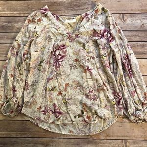 Anthropologie || Maeve Pernille Tie Blouse Size XS